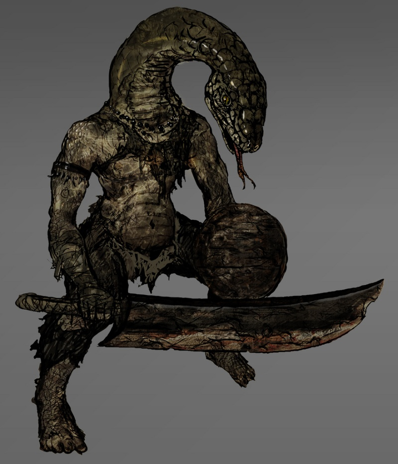 dark-souls Homme-serpent