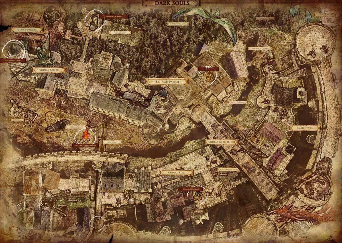 lordran Map