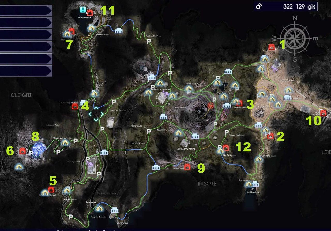 FINAL FANTASY XV_localisation donjons