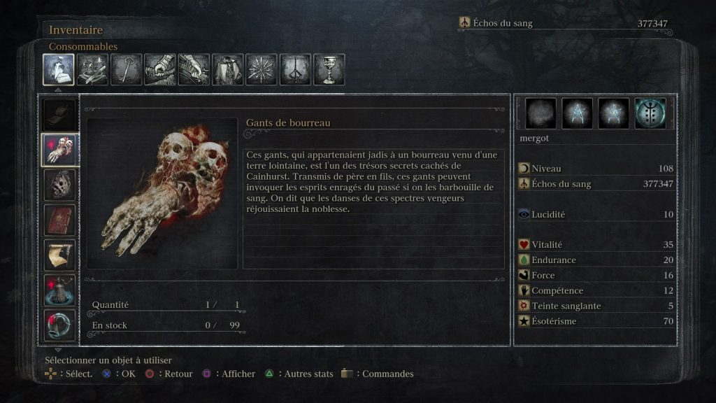 Bloodborne-gants de bourreau-leblogdewilly